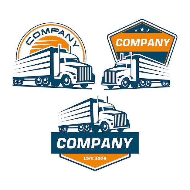 Logotipo de camión Vector Premium