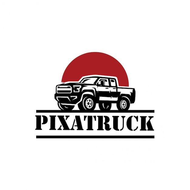 Logotipo del camión Vector Premium