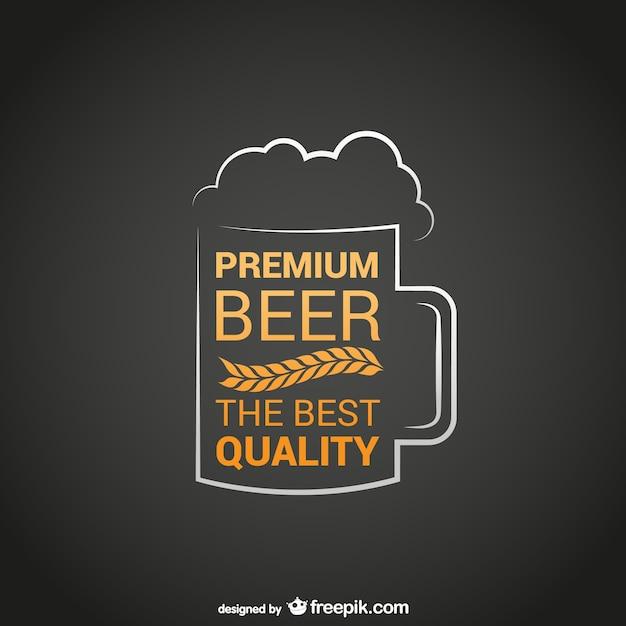 Logotipo de cerveza de la mejor calidad vector gratuito