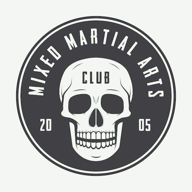 Logotipo del club de lucha, emblema Vector Premium