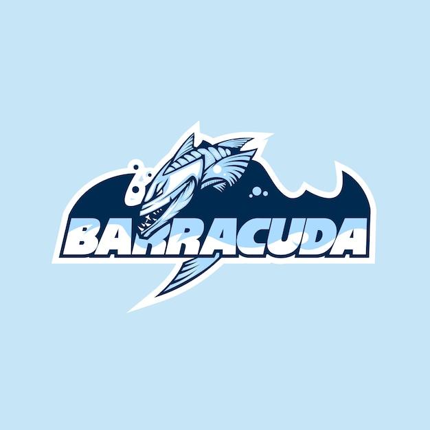 Logotipo de un club o empresa con el nombre barracuda. Vector Premium