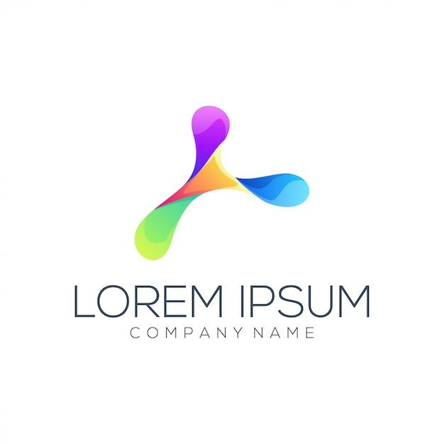 Logotipo de color abstracto Vector Premium