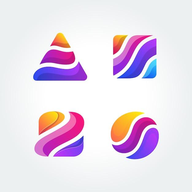 Logotipo colorido ilustración vectorial plantilla Vector Premium