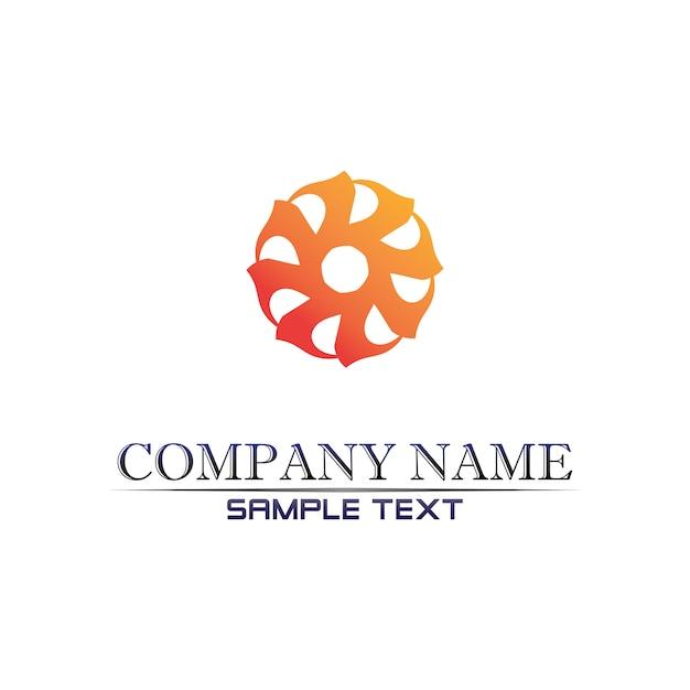 Logotipo de community care en círculo Vector Premium