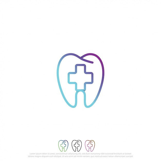 Logotipo de cuidado dental Vector Premium