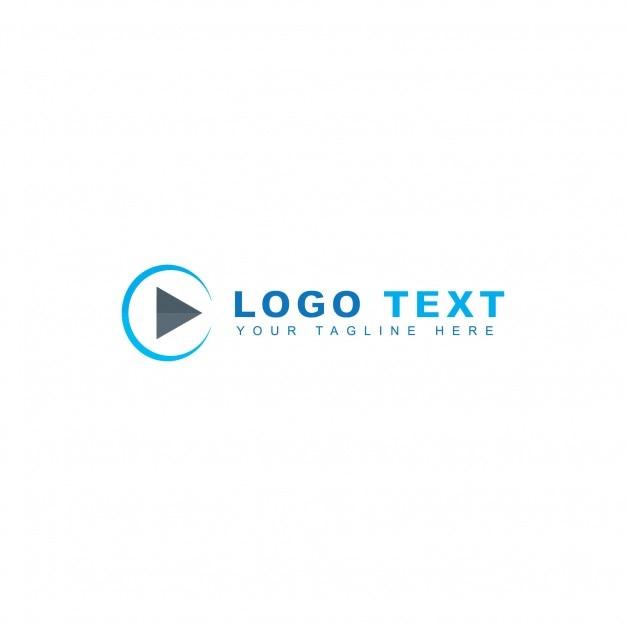 Logotipo de circulo y play Vector Gratis