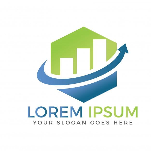 Logotipo de finanzas empresariales. logotipo gráfico de crecimiento ...