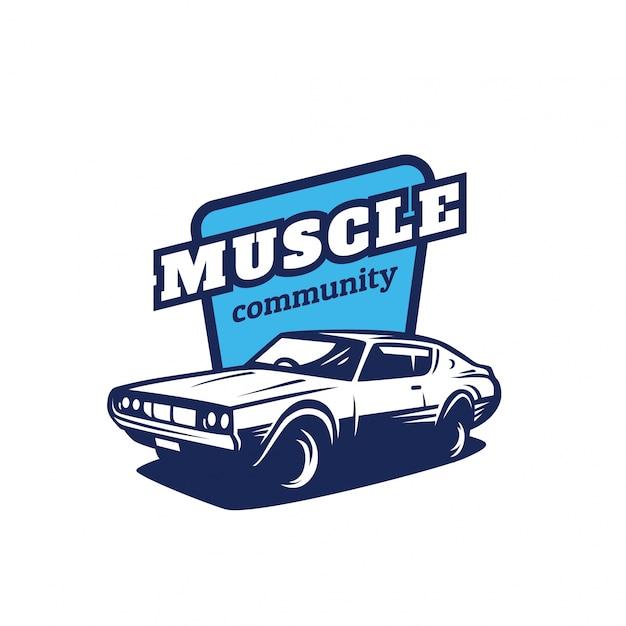 Logotipo de la comunidad muscle car | Descargar Vectores Premium