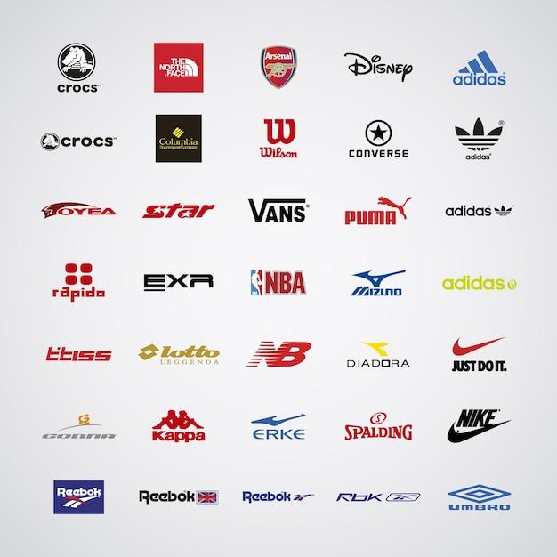 logotipo de la marca deportiva Vector Gratis