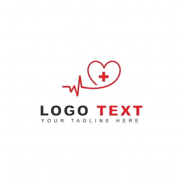 Logotipo de latido del corazón Vector Gratis