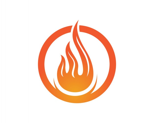 Logotipo De Naturaleza De Llama De Fuego