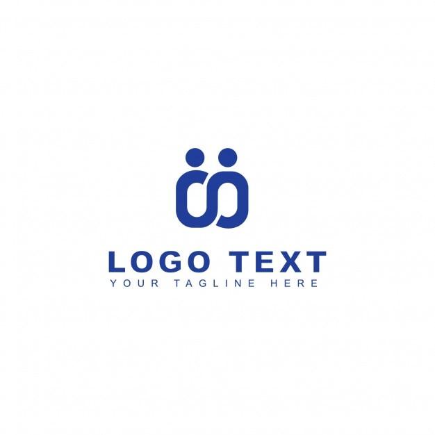 Logotipo de personas y conexión Vector Gratis