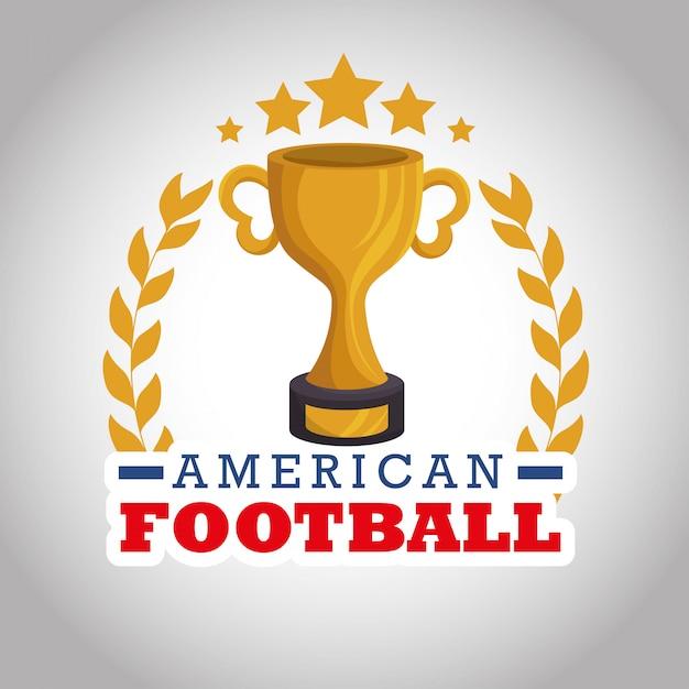 Logotipo de deporte de fútbol americano vector gratuito