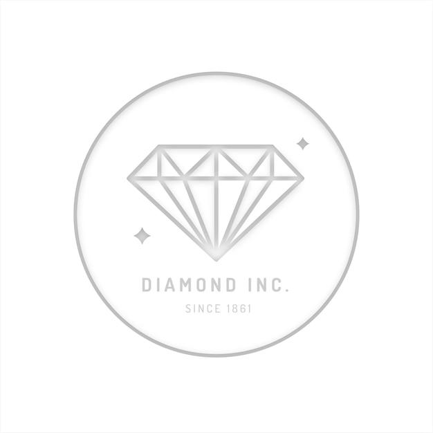 Logotipo de diamante de diseño elegante vector gratuito