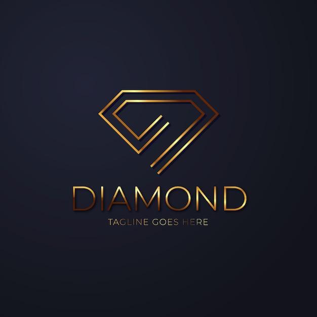 Logotipo de diamante elegante vector gratuito