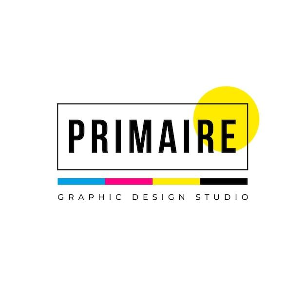 Logotipo de diseño colorido creativo Vector Premium