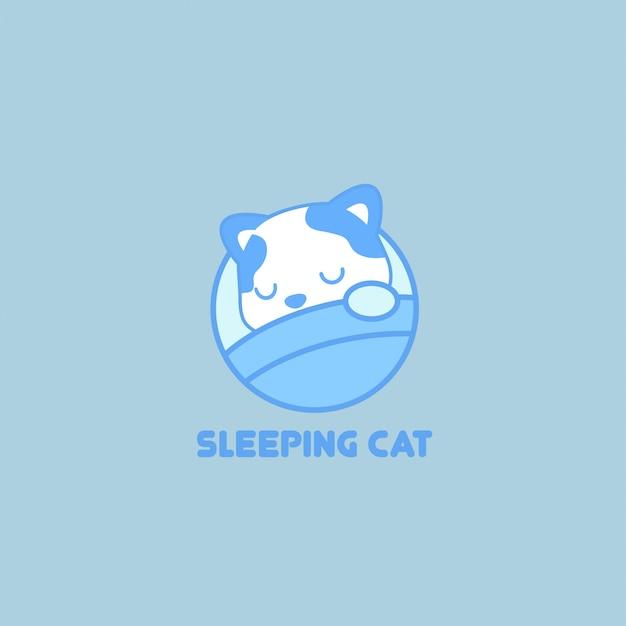 Logotipo para dormir Vector Premium