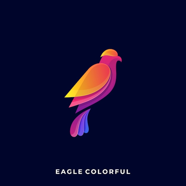 Logotipo de eagle color Vector Premium