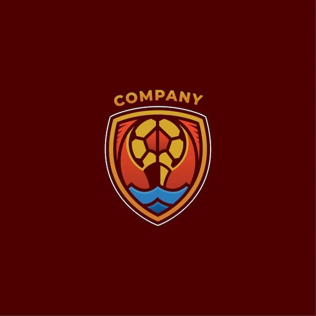 Logotipo de la empresa de fútbol Vector Premium