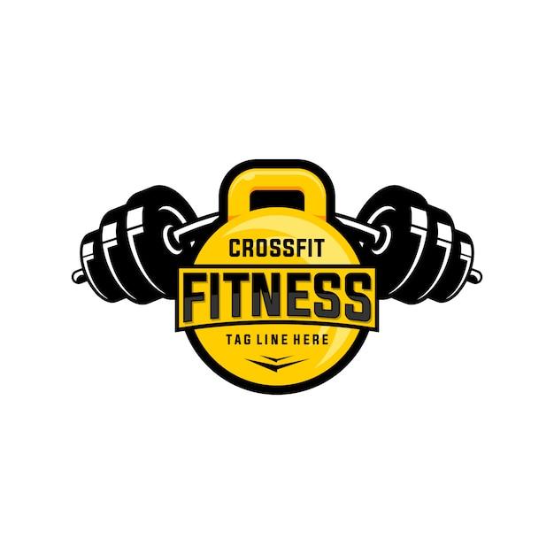 Logotipo de fitness y crossfit healty care Vector Premium