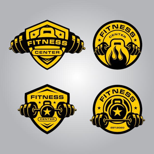 Logotipo de fitness y crossfit Vector Premium