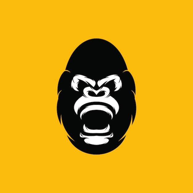 Logotipo de gorila Vector Premium