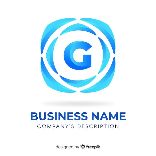 Logotipo gradiente abstracto vector gratuito