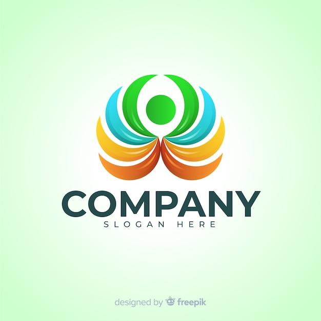 Logotipo de gradiente de redes sociales vector gratuito