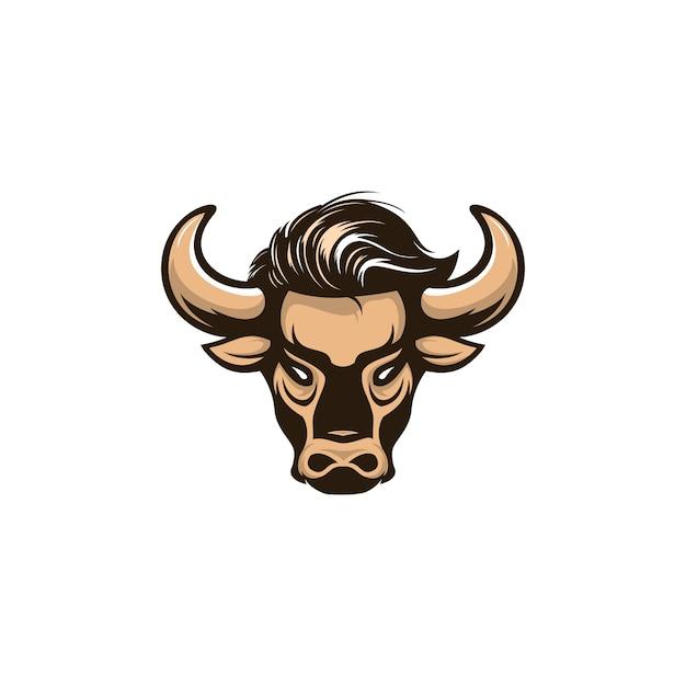 Logotipo de ilustración bull Vector Premium