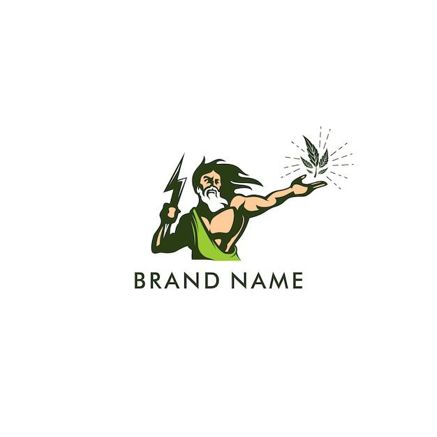 Logotipo de ilustración de zeus Vector Premium