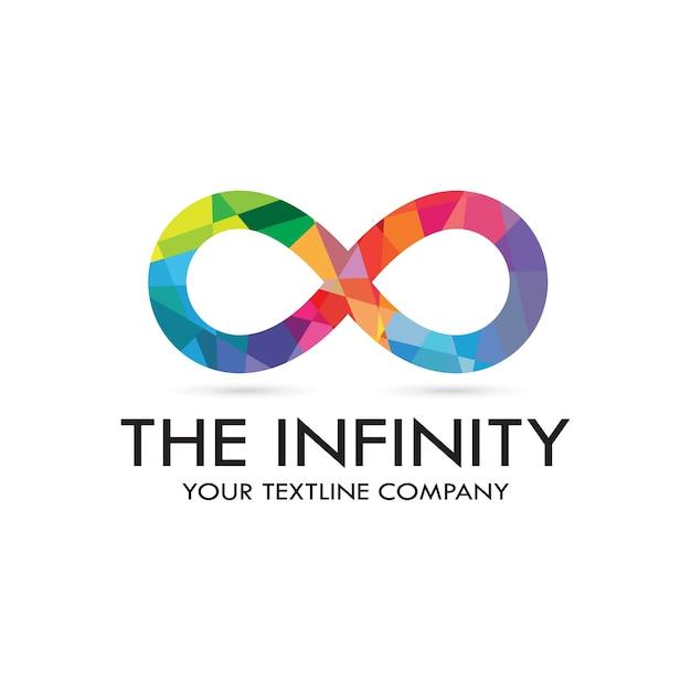 Logotipo de infinity Vector Premium