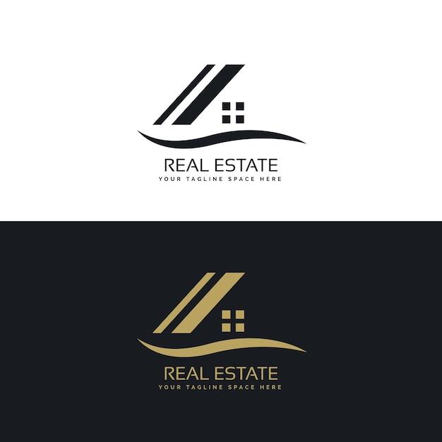 Logotipo de inmobiliaria vector gratuito
