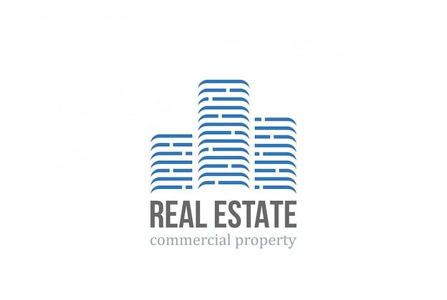 Logotipo inmobiliario. vector gratuito