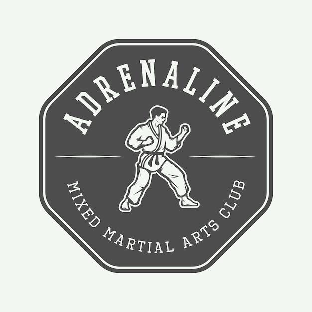 Logotipo de karate, emblema Vector Premium