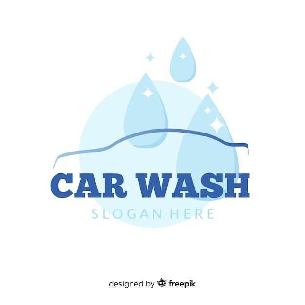 Logotipo de lavados de coche vector gratuito