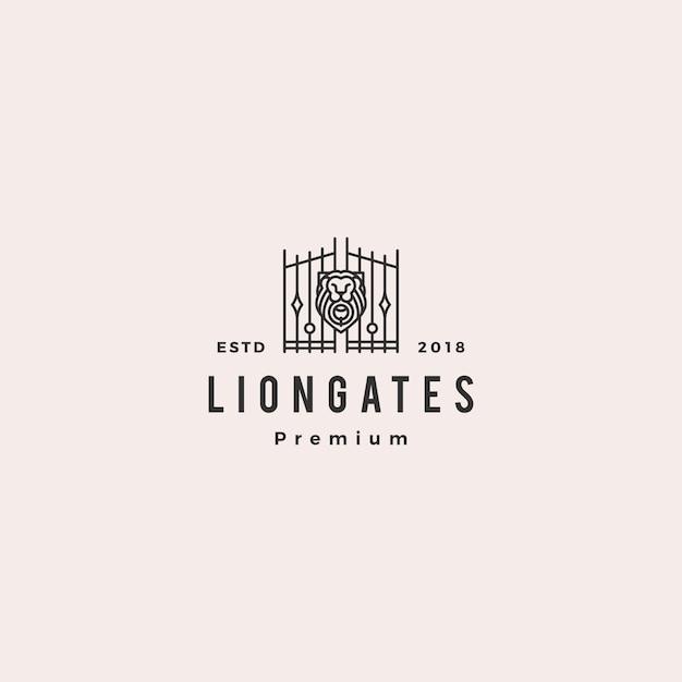 Logotipo de liongates de lion gate Vector Premium