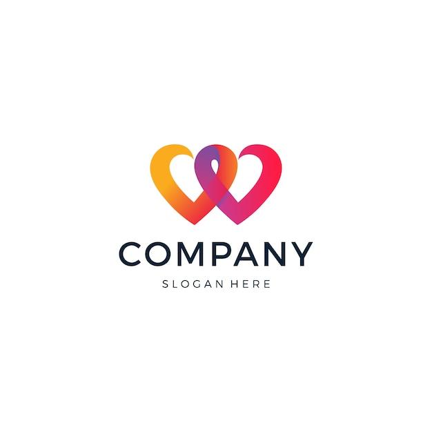 Logotipo de love match Vector Premium