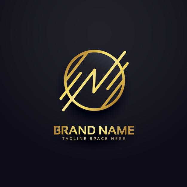 Logotipo de lujo branding vector gratuito