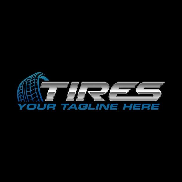 Logotipo del neumático Vector Premium