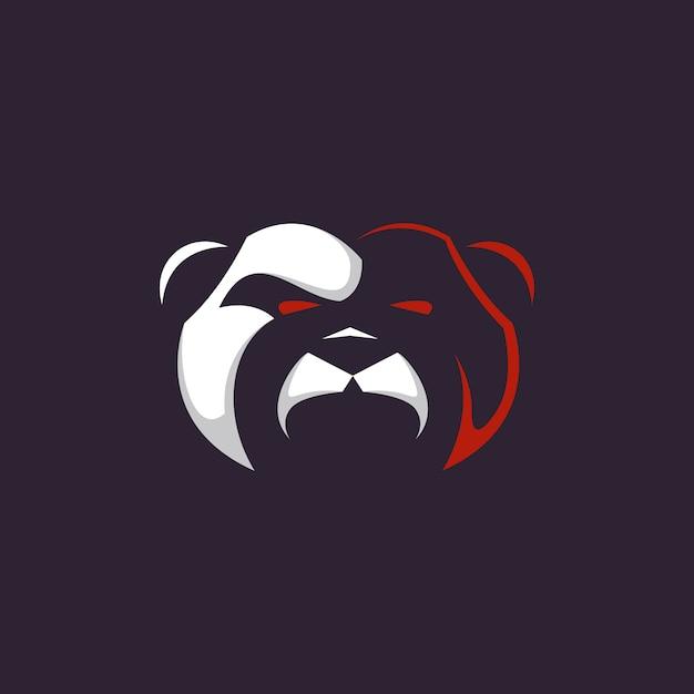 Logotipo del oso Vector Premium