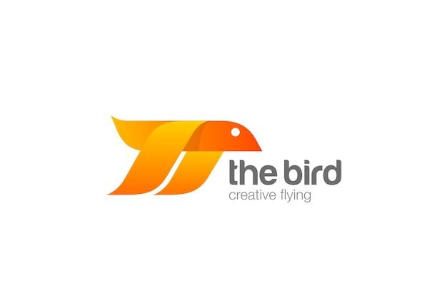 Logotipo de pájaro volador. vector gratuito