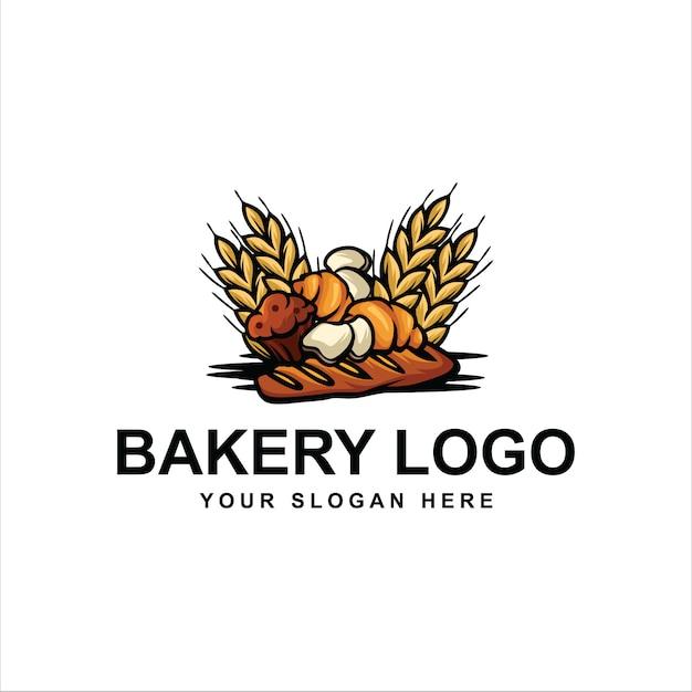 Logotipo de panadería Vector Premium