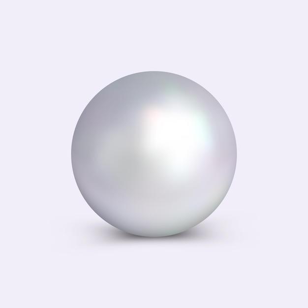 Logotipo de pearl, emblema, insignia para cosméticos, joyería, perfumería, joyería, salón de belleza, salón de spa y más. Vector Premium