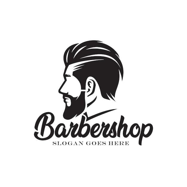 Logotipo de peluquería Vector Premium