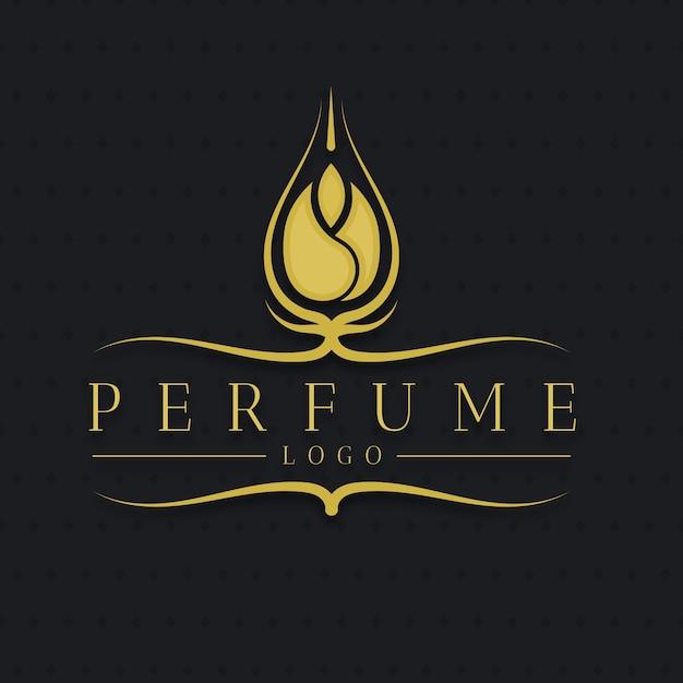 Logotipo de perfume floral de lujo vector gratuito