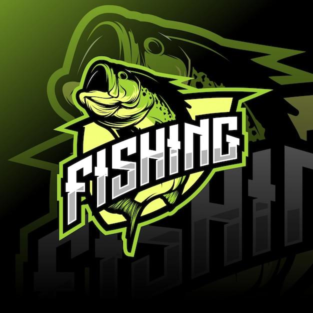 Logotipo de pesca Vector Premium