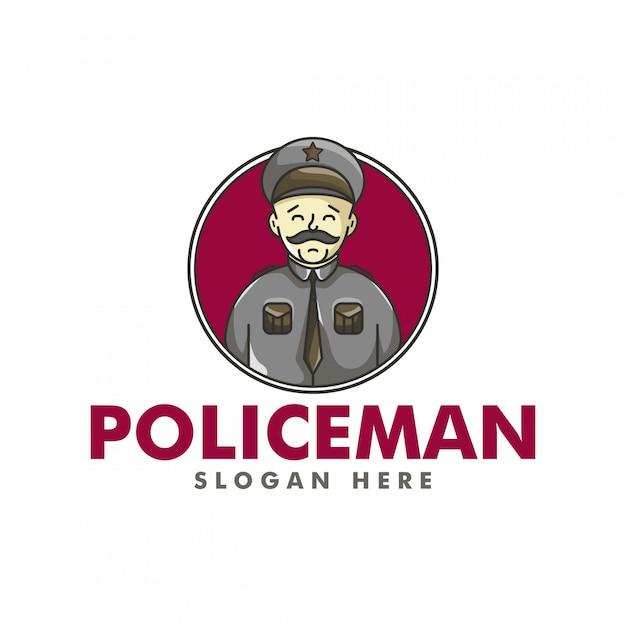El logotipo del policía Vector Premium
