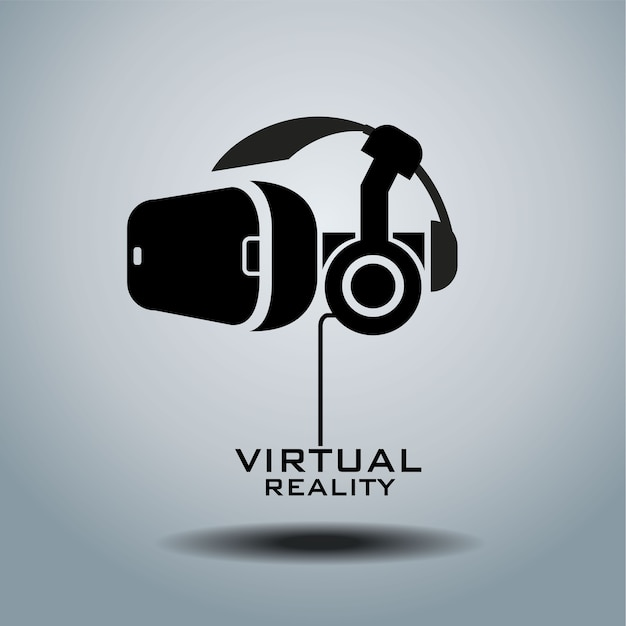 Logotipo de realidad virtual Vector Premium