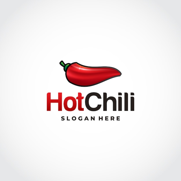 Logotipo de red hot chili en diseños de malla Vector Premium