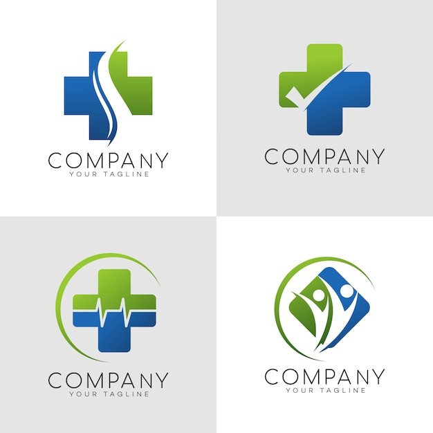 Logotipo de seguro familiar Vector Premium